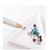 Plastic Triangle Nail Art Rhinestone Sorting Trays DIY DecalsMRMJ-G003-02-2
