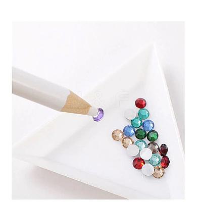 Plastic Triangle Nail Art Rhinestone Sorting Trays DIY DecalsMRMJ-G003-02-1