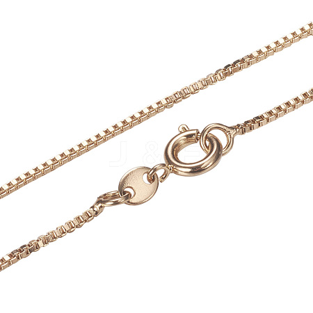 Brass Box Chain Necklace MakingsMAK-L014-03C-1