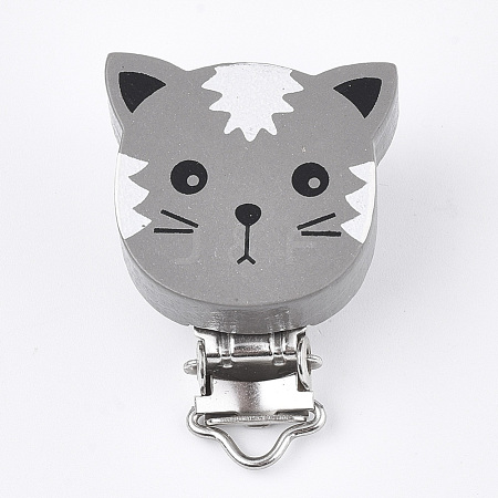 Maple Wood Kitten Baby Pacifier Holder ClipsWOOD-T019-15A-1