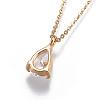 Brass Chain Pendants NecklacesNJEW-JN02383-02-3