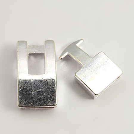 Alloy Snap Lock Clasps X-TIBE-LF11313Y-S-FF-1
