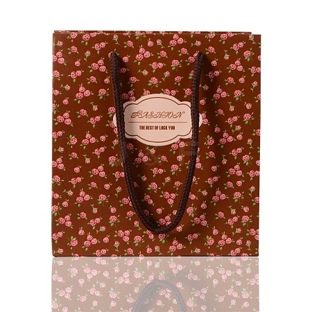 Rectangle Printed Rose Paper Bags CARB-F001-07A-1