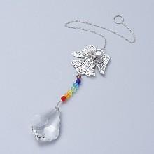 Crystals Chandelier Suncatchers Prisms Chakra Hanging Pendant AJEW-I040-09P