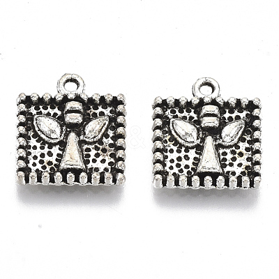 Tibetan Style Alloy Charms TIBE-N006-33AS-LF-1