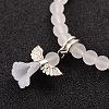 Stretchy Frosted Glass Beads Kids Charm Bracelets for Children's DayBJEW-JB01769-07-2