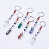 Natural/Synthetic Gemstone Chakra Pointed Keychain KEYC-P040-D-1