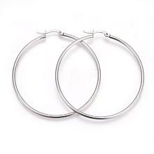 304 Stainless Steel Hoop Earrings EJEW-P173-13P-07