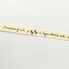 Single Face Words and Ants Printed Cotton RibbonOCOR-R012-1.5cm-B08-2