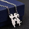Couples 304 Stainless Steel Pendant Necklaces and Stud EarringsSJEW-D070-17P-2