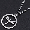 201 Stainless Steel Pendant Necklaces NJEW-S105-JN586-40-1-1