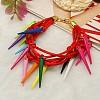 Fashion Acrylic Spike BraceletsBJEW-JB00641-04-1