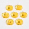 4-Hole Apple Acrylic Buttons for Clothes Accessories Crafts X-BUTT-E038-05-1