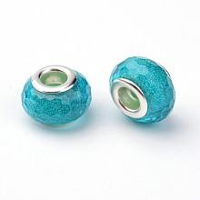 Faceted Resin European Beads RPDL-J011-08