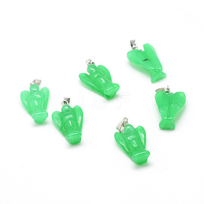 Dyed Natural Malaysia Jade Gemstone Pendants X-G-T032-10-1
