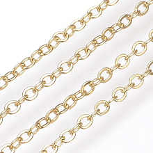 Brass Cable Chains KK-S332-18G