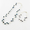 Pearl Jewelry Sets: Bracelets and NecklacesSJEW-R043-06-1
