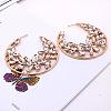 Alloy Glass Rhinestone Stud EarringsX-EJEW-P146-B01-2